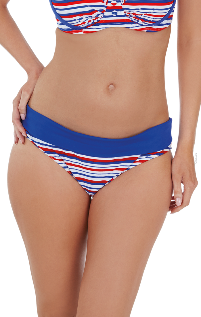 AUDELLE FIGI KĄPIELOWE SAILOR FOLD PANT BLUE/RED/WHITE